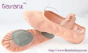 canvas ballet shoes with split sole