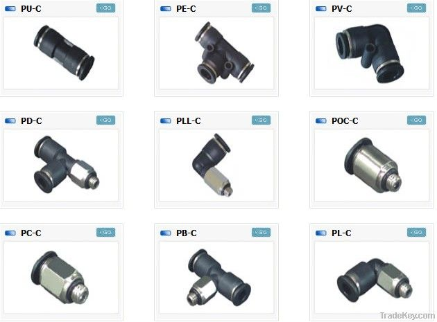 Compact one touch fittings mini fittings