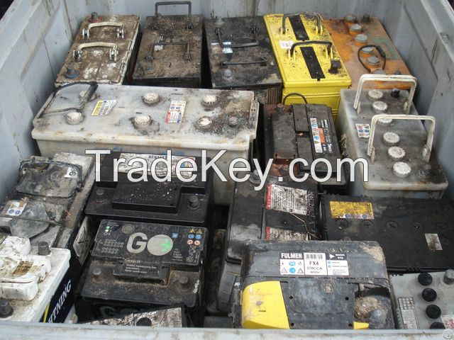 Drained Lead-Acid Battery Scrap Car and Truck battery, Drained lead battery scrap