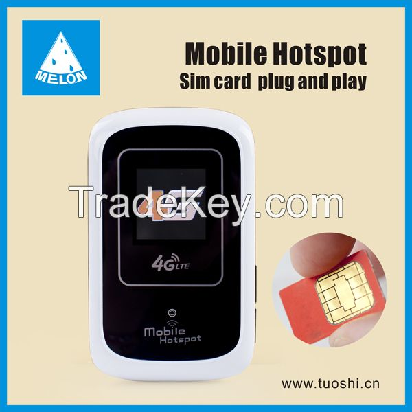 4G LTE mobile wifi hotspot with sim card slot