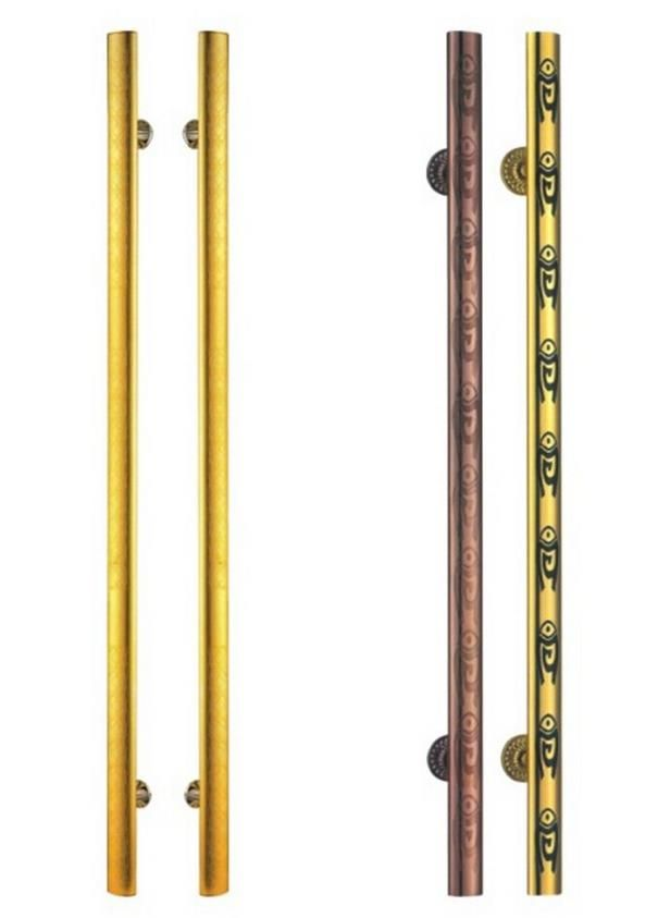 New Luxury Brass Door Handle with Plate Gold Plated Brass