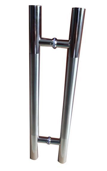 shower room galss lever door chrome plated handles