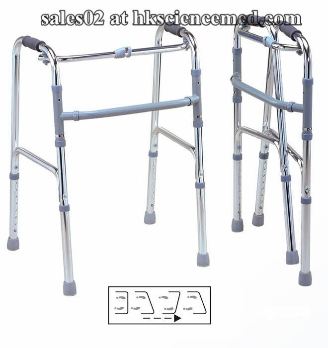 Fldable Walker - New Height-adjustable Automatically Foldable Walker