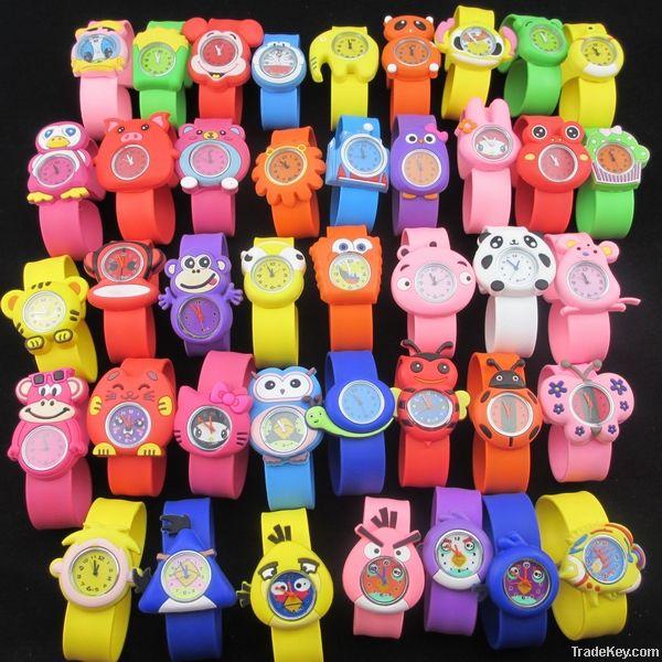 Silicone sportive watch, slap watch