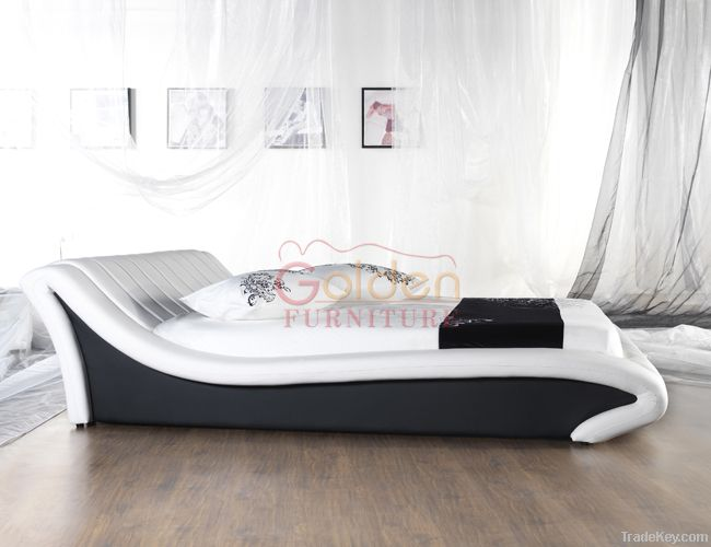 Factory Low Price PU Fashionable Soft Bed