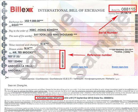 International Bill Of Exchange