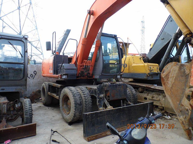 Used HITACHI ZX160W Wheel Excavator,original japan Used HITACHI Wheel  Excavator ZX160W