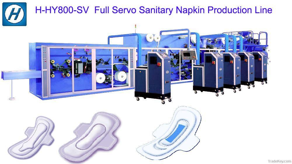 Full Servo High Speed Sanitary Napkin Machine