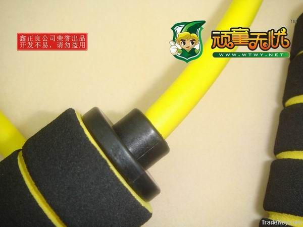 Bicolor Sponge Handle Fitness Rope Skipping, Game Skipping