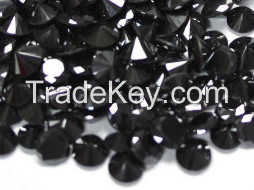 High quality loose moissanite Jet Black round cut Carat-1.00ct_6.80mm