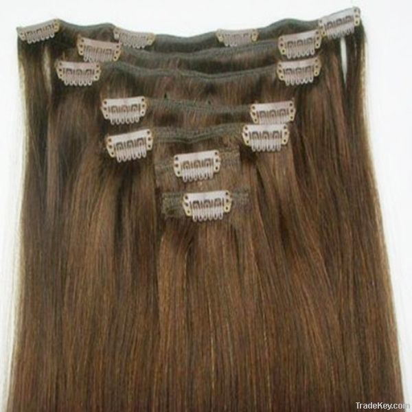 long beautiful wholesale  straight and curly clip in hair extension