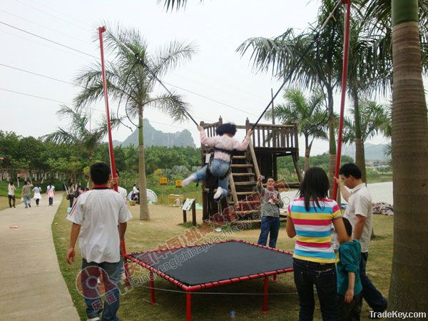 electric single bungee trampoline