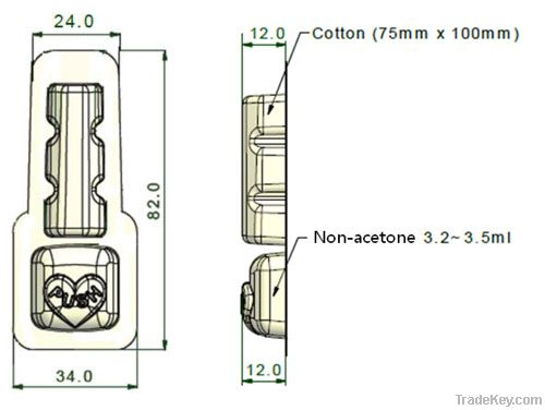 Handy Tok Portable Nail Polish Remover