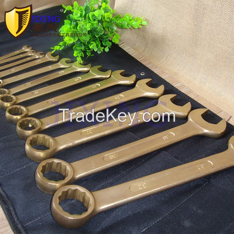 EX-proof combination wrench set, Non-sparking copper alloy safety tool