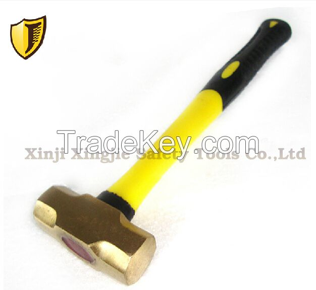 Non-sparking copper alloy sledge hammer, explosion proof safety hand tool