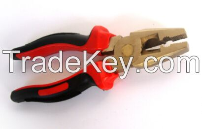 Non-sparking copper alloy combination cutting pliers