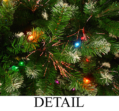 6.5' Frosted Noble Fiber Optic Artificial Christmas Tree - Multi Light