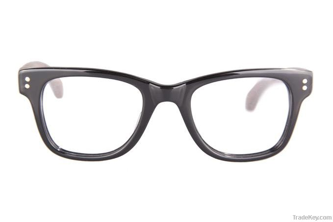Acetate frames with wood temples