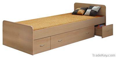 wood bed, wood furniture
