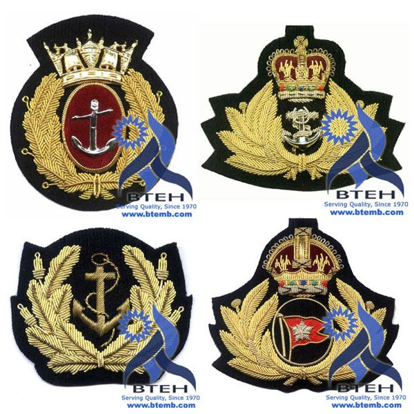 Bullion Badges | Bullion Cap Badges | Hand Embroidery Navy Badges