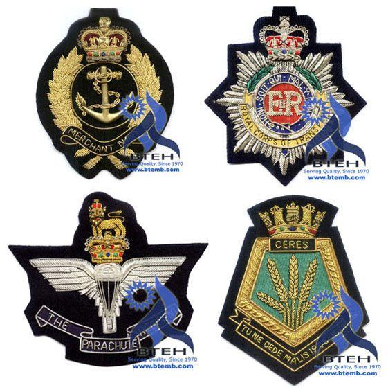 Bullion Badges | Bullion Blazer Badges | Hand Embroidery Blazer Badges