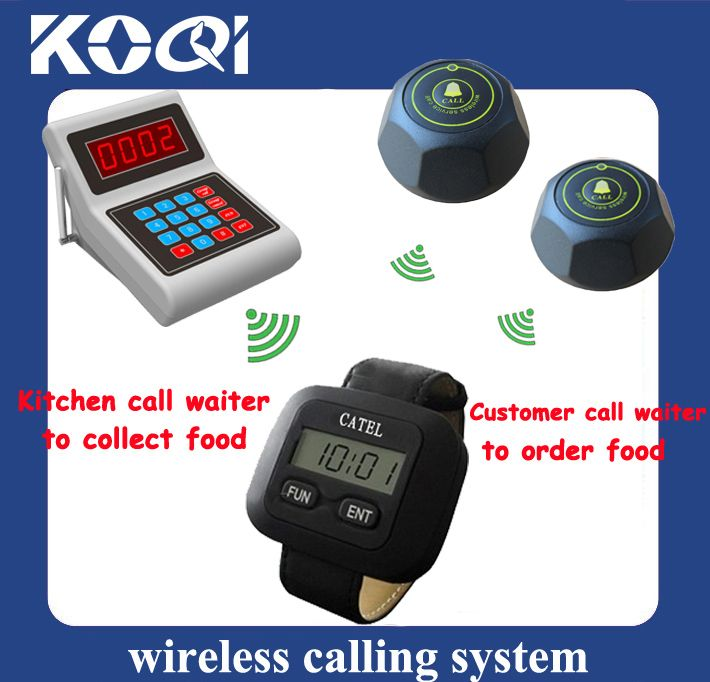 Table buzzer restaurant ordering electronic pager for kitchen
