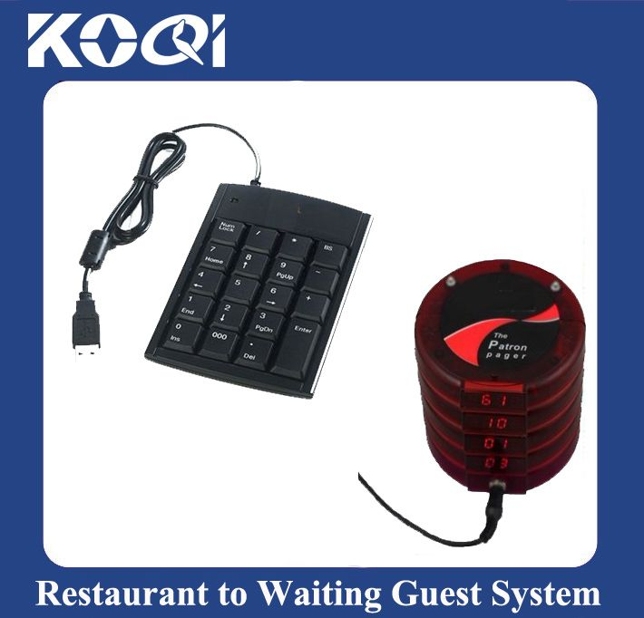 Wireless queue call service restaurant waiter call guest system