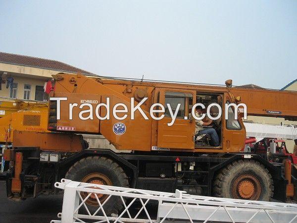 Sell Used Kobelco Rough Terrain Crane KR250