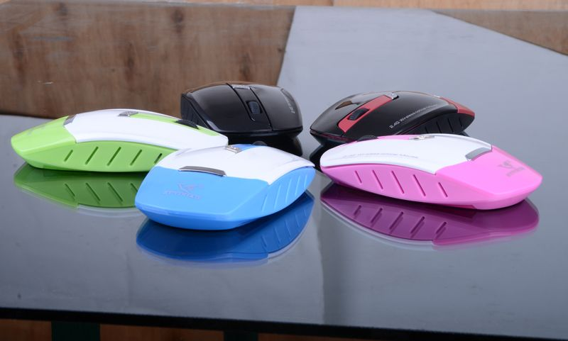 Round shape colorful wireless keyboard mouse combos