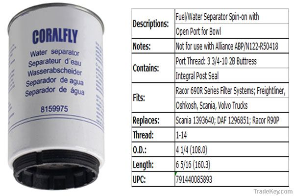 Applicable for Volvo 466987-5 Fuel Filter