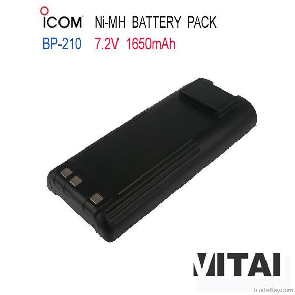 Wholesale OEM ICOM BP-210 Ni-Mh 1650mAh Handheld Radio Battery