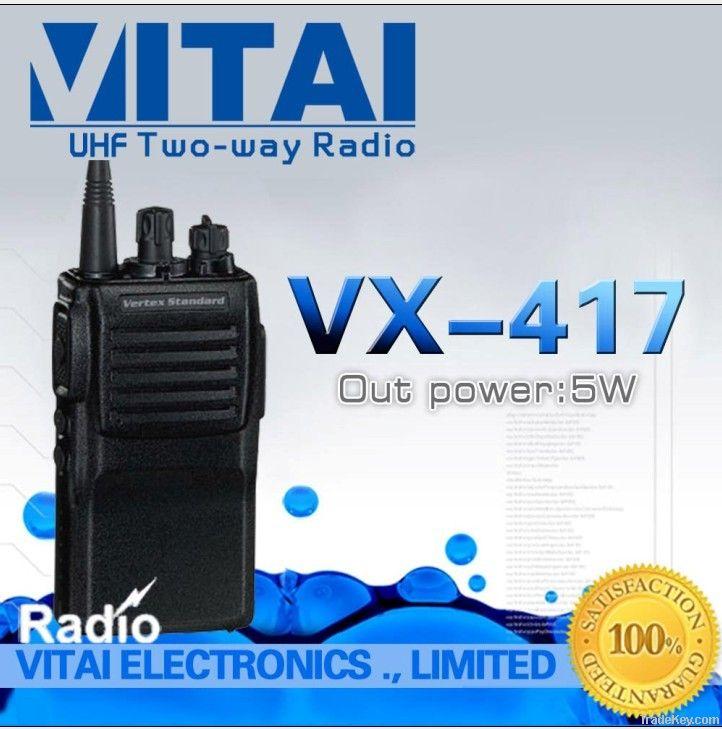 VERTEX STANDARD VX-417 UHF Handheld FM Transceiver