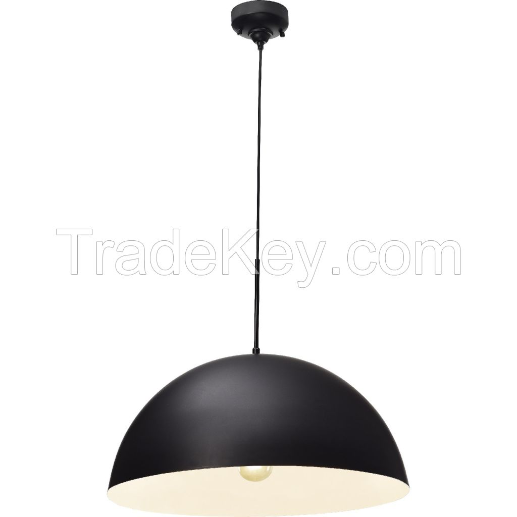 VL Light Indoor Black Dome Pendant