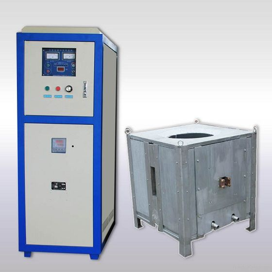 Induction melting furnace for copper steel iron aluminum scrap