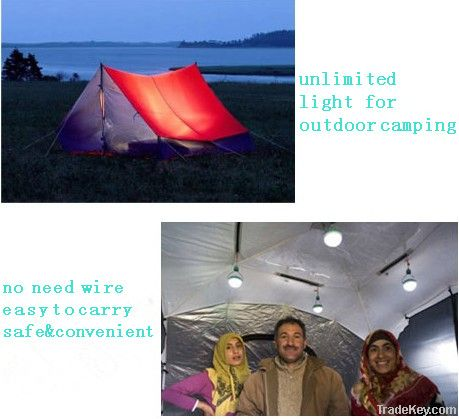 Novelty Portable LED Solar Lamp Camp Light