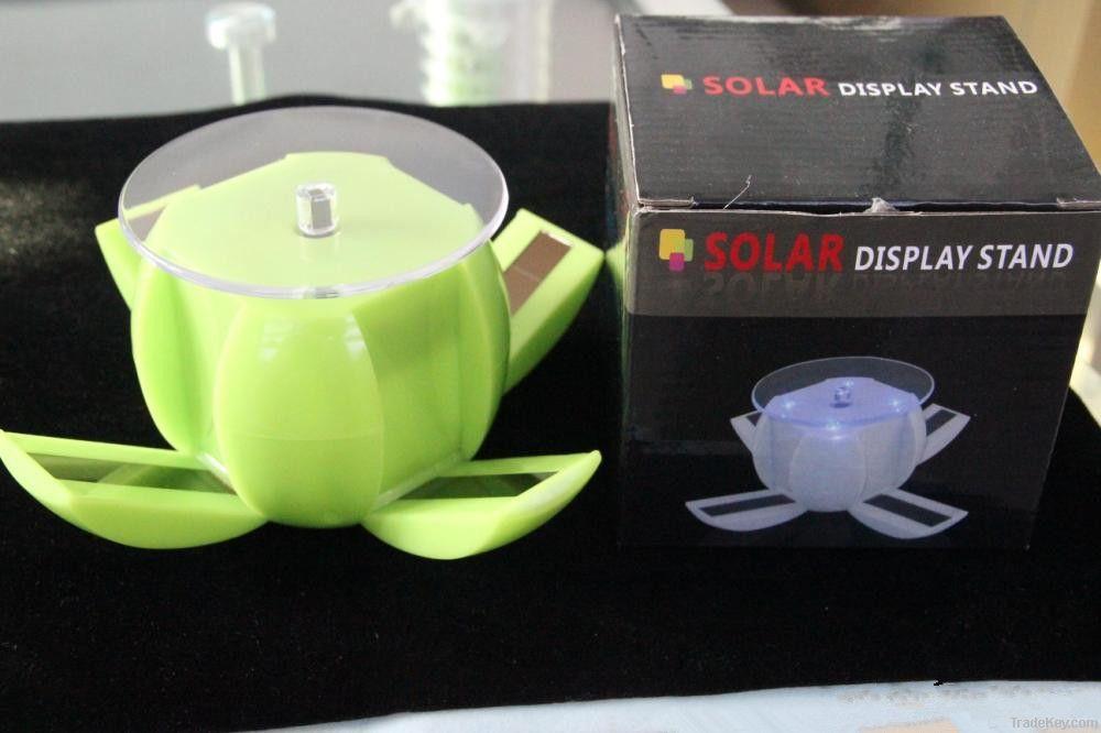 Apple shaped solar display mobile phone holder