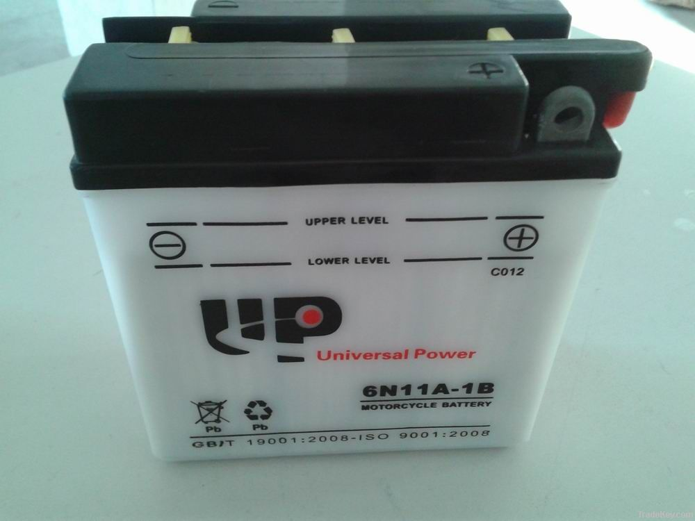 Dry Charged Vented Motorcycle Battery