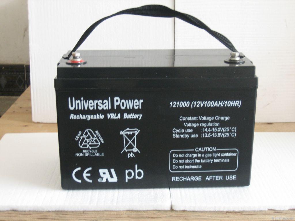solar battery/ UPS battery /AGM battery 12V 100Ah