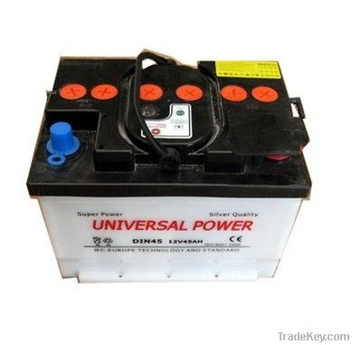 dry charged car battery 12V45AH