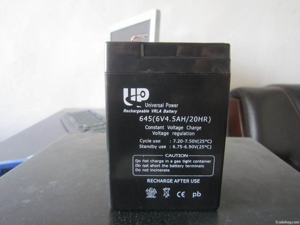 UPS/AGM/ lead acid battery 6V 4.5AH