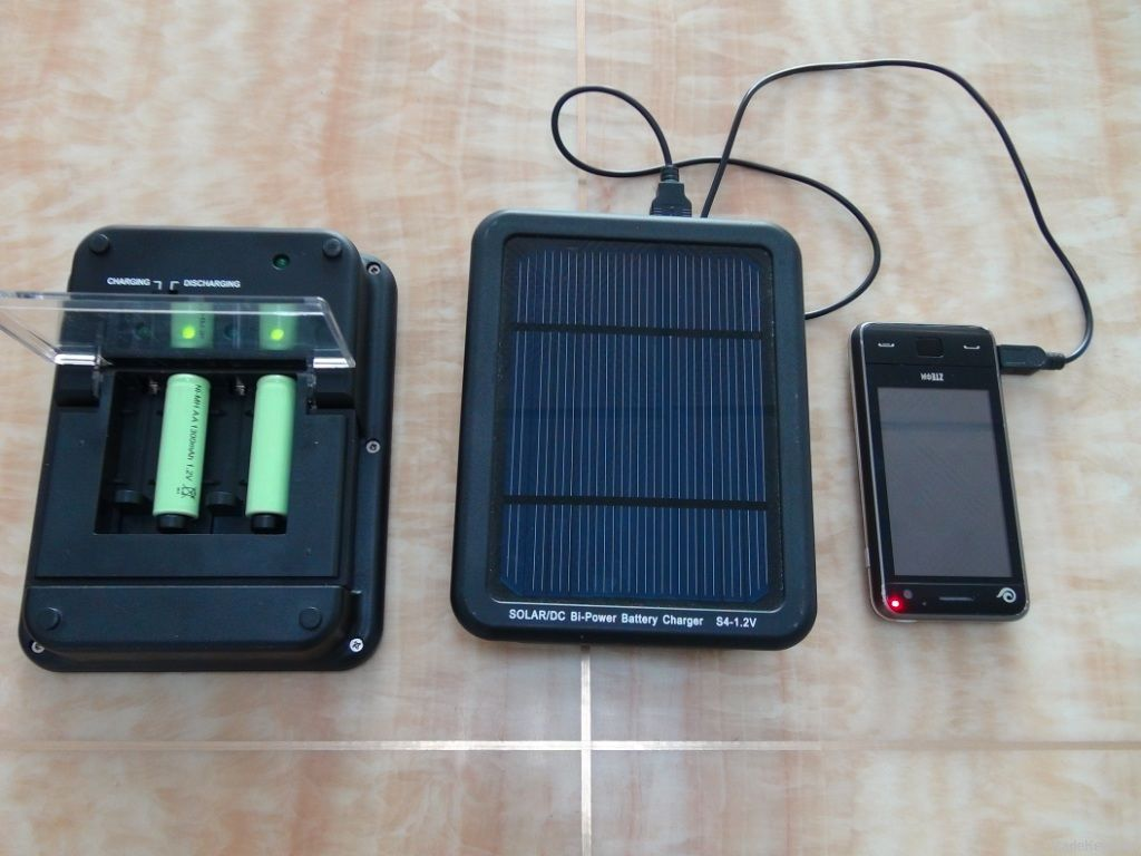 Solar/DC Bi-Power Battery Charger