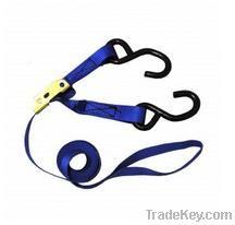 Cargo lashing belts with hooks