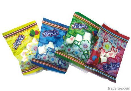 8g column shaped marshmallow candy