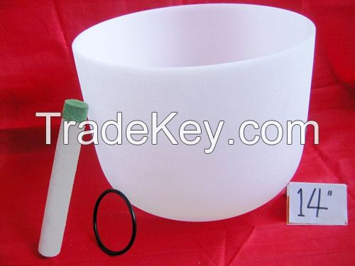 The Original Classic Frosted Crystal Singing Bowls