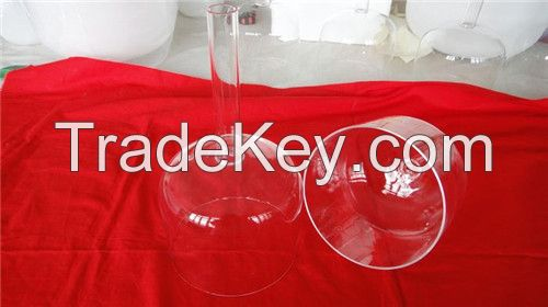 Handle Clear crystal singing bowl 6inch to 10inch with mallet