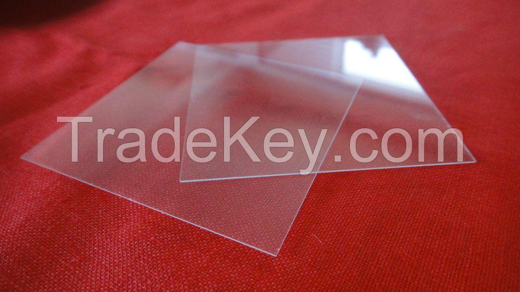 Double Side Polished Far-UV Fused Silica Quartz Glass Sheets 30*30*1mm