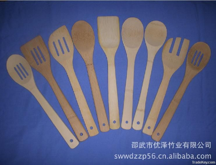 High Quality Bamboo Kitchen Utensil Set