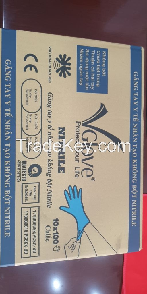 Glove Nitrile powder free from Vietnam