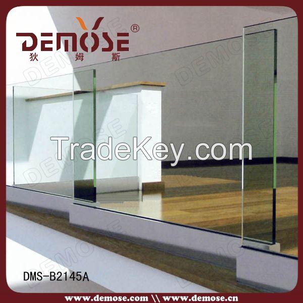 balcony stainless steel glass railing design