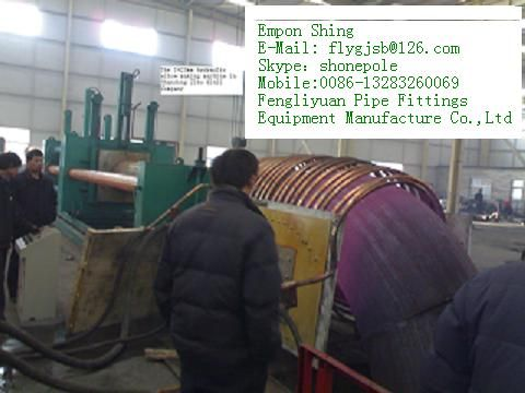Carbon and alloy steel elbow induction heat making hydraulic machine